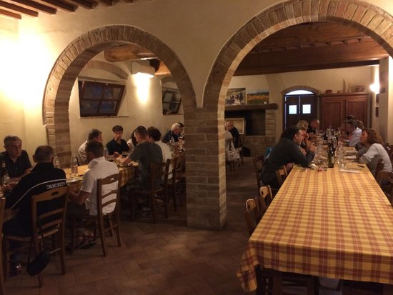 Fattoria Poggio Alloro : Dinner inside when it was raining - so cosy and perfect