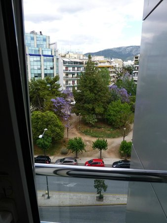 Golden Age Hotel Athens: view from French balcony