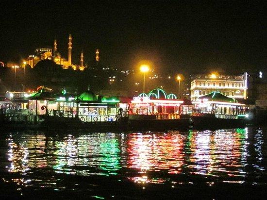 Bitinya Day Tours : Eminönü and the Süleymaniye Mosque, at night