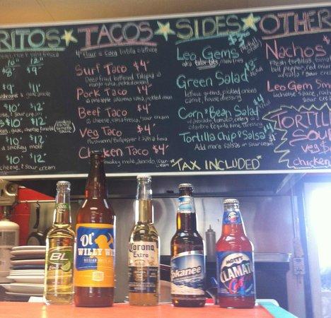 Leo Burrito: Beer and Menu