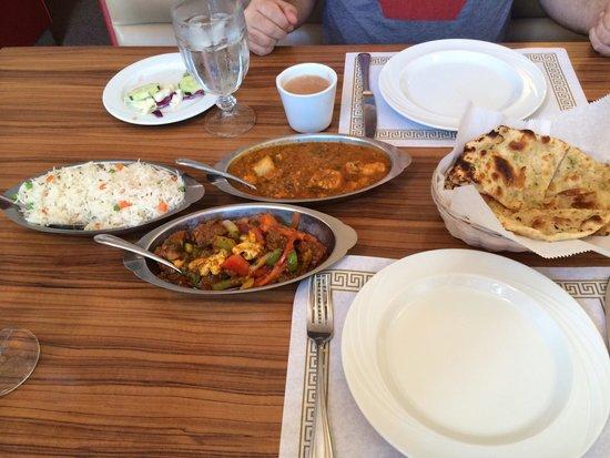 Seva Cuisine of India: The dinner for two!