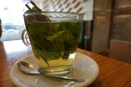Pasta Factory: Fresh mint tea, very soothing!