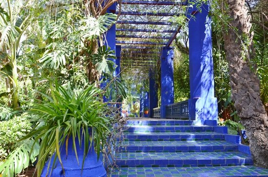 Jardin majorelle marrakech map gallery for Jardin marrakech