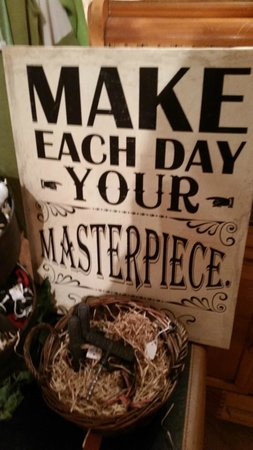 """Lady of the Lake Shop, Cafe & Pub: """"Make Each Day your Masterpiece"""" Love that quote Lady of the Lake Cafe & Pub  