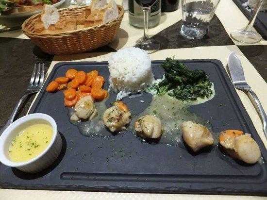 Restaurant Le Drakkar : the most amazing scallops!