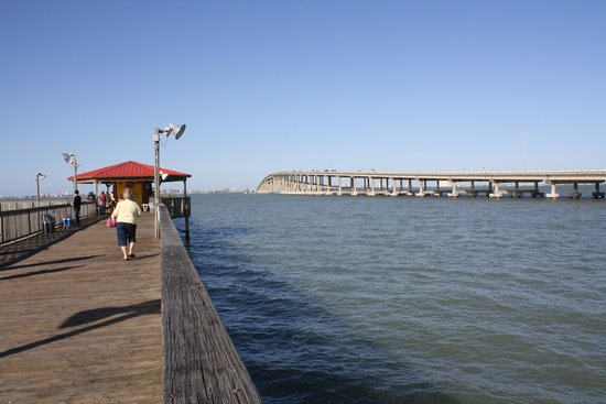 view from pier toward south padre island picture of