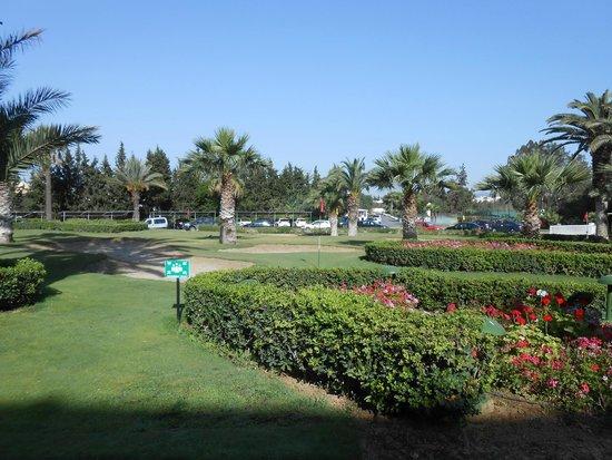 SENTIDO Phenicia: Front of the hotel - mini golf course