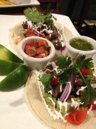Mojito's Tapas Restaurant: Steak Tacos (Tacos de Lomitos-- HANDMADE Tortillas!)