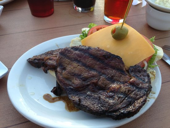 Pike's Landing: Huge  and Delicious Prime Rib Sandwich