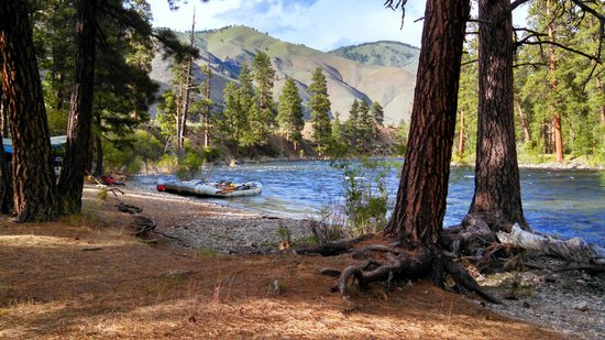 Idaho River Journeys: Camp 3 on the river