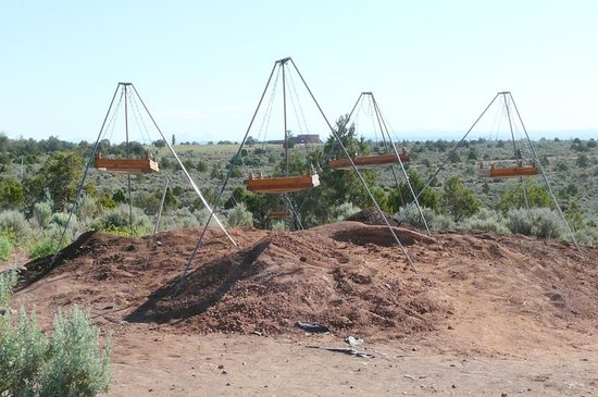 Crow Canyon Archaeological Center : Sifting station for culling dirt from excavation.