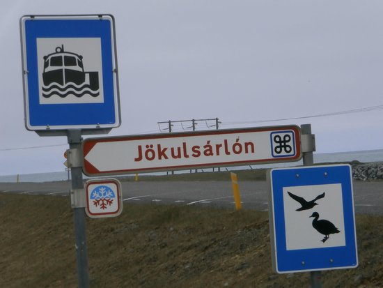 Jökulsárlón: You will know you are there sign