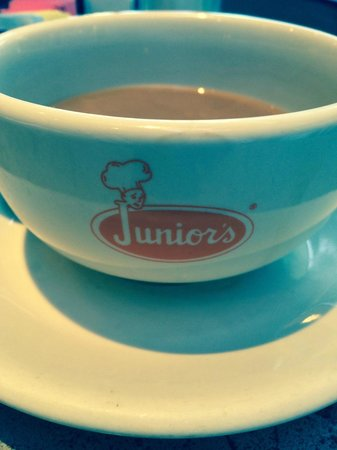 """Junior's: My only complaint: Coffee """"bowls"""" don't keep coffee hot!"""