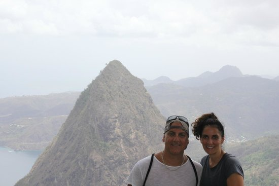 Treasure Tours St. Lucia : Finally made it to the top