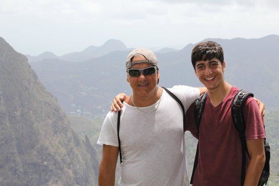 Treasure Tours St. Lucia : At the top of Gros Piton