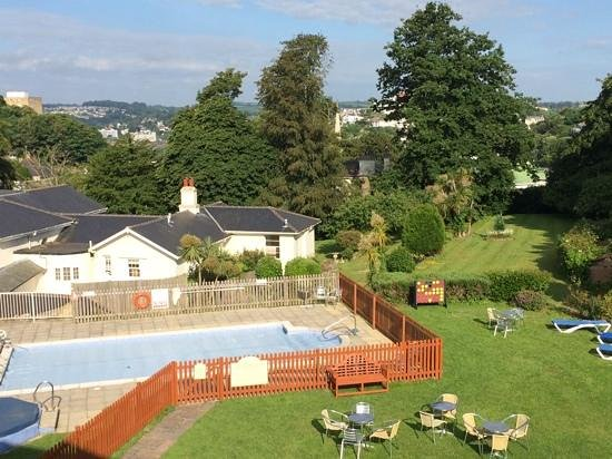 Lincombe Hall Hotel: View from Gold room 15