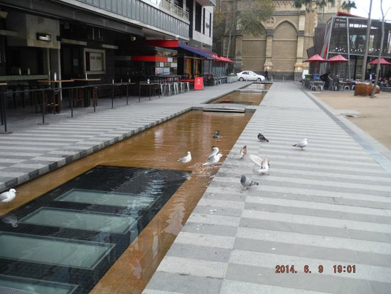 Melbourne Central: Part of the fountain