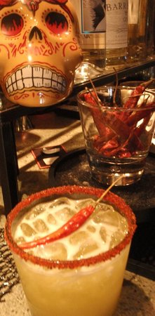 Mi Casa Kitchen and Bar: Mango Fuego for a spicy kick to your margarita.  Ole!