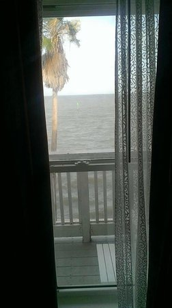 Lighthouse Inn at Aransas Bay: The view from sitting on the bed in our room