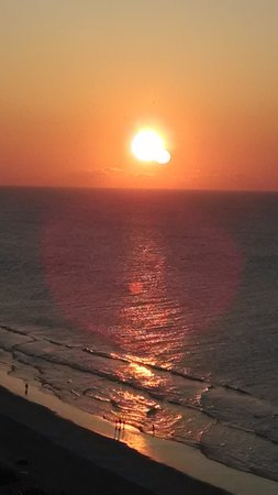 Myrtle Beach Resort: the sunrise from our ocean view balcony