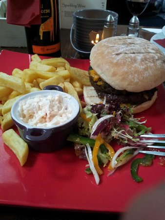 The Village Rest: Haggis burger (basically a beef patty plus a haggis patty)!! Well worth a try :)