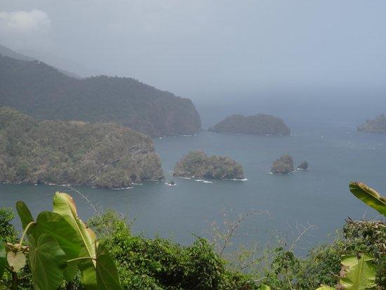 Outra vista da estrada à caminho de Maracas Bay.