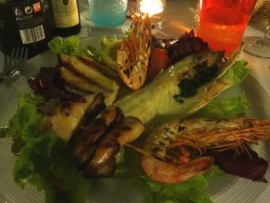 Da Rino: Grigliata di mare - Frutos do mar