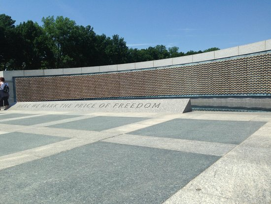 National World War II Memorial : The wall of stars