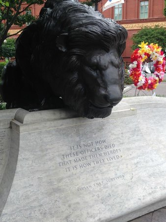 National Law Enforcement Officers Memorial: We are the lions