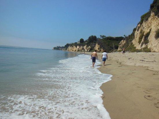 Walking along Paradise Cove