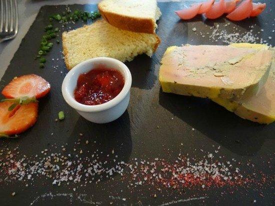 Château du Cornage : Entrée foie gras