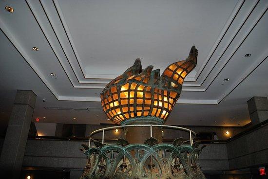 Statue de la liberté : the original flame, now in the museum