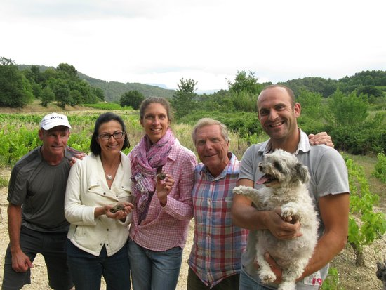 Truffle Hunting at Les Pastras : Here we are!