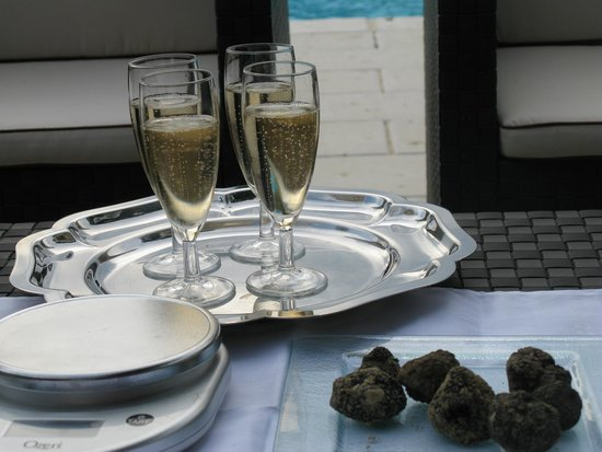Truffle Hunting at Les Pastras : Champagne and Truffles