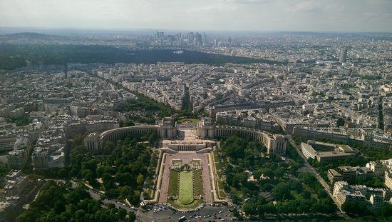 Tour Eiffel : View from the top floor