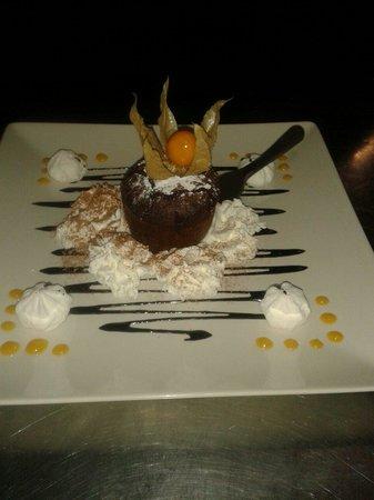 Restaurante Villa Romana: Corazon di cioccolato.....
