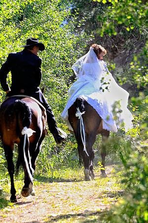 Diamond D Ranch: Riding from the chapel to the reception