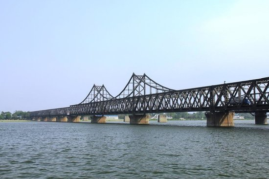 China and North Korea Friendship Bridge: Dandong Yalu River, the Friendship Bridge (China/North Korea)