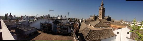 Grand Luxe Hostel: Uitzicht vanaf het dakterras