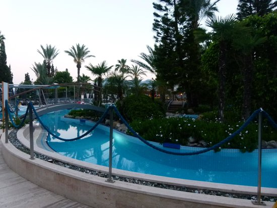 "D-Resort Grand Azur: View of  pool ""River"" fast flowing lots of fun"