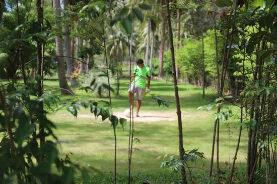 Samui Football Golf Club: Tee off at hole 4
