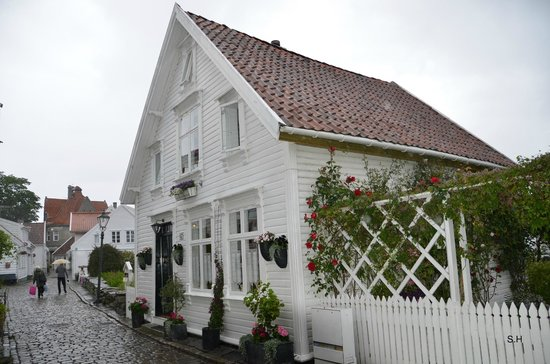 Old Stavanger: Trädhus.