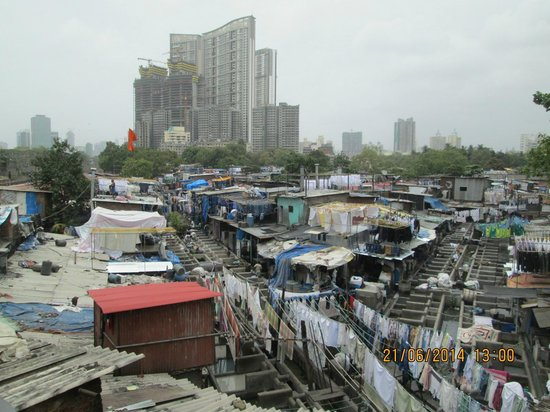 "Aerial view of approx 38 acres of ""Dhobi Ghat"""