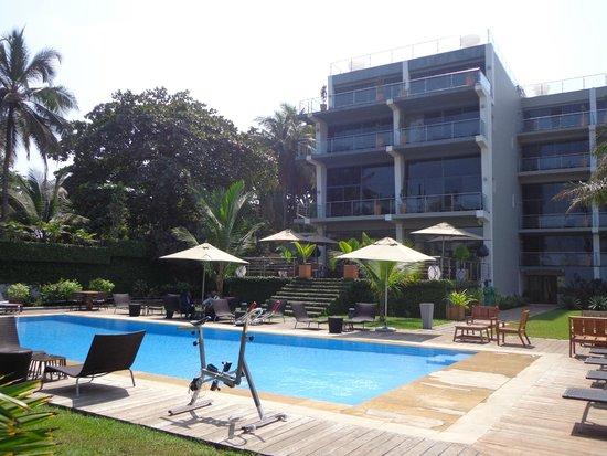 Villa madiba hotel: Vue de l'hôtel