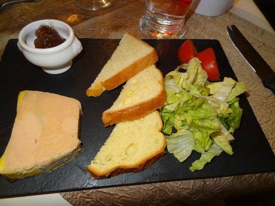 La Cassolette : Foie gras com geleia de figo.