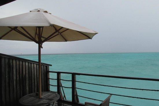 Reethi Beach Resort: water villa balcony