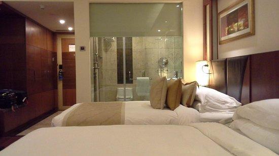 Radisson Blu Plaza Delhi: Bed View & Toilet