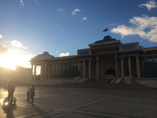 Genghis Khan Square: Sunset