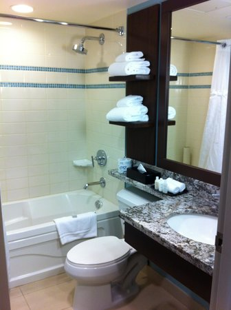 Aava Whistler Hotel: bathroom was clean