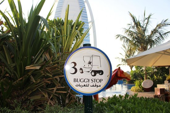 Jumeirah Beach Hotel: Travel around the resort on a Buggy